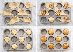 Maak deze appel croissant muffins als je op zoek bent naar een lekkere variatie op de oude vertrouwde croissant in het weekend.