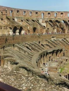 The Colesseum in Rome (interior)