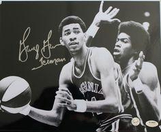 "George Gervin Virginia Squires Autographed 8x10 Photo Inscribed """"Iceman"""""
