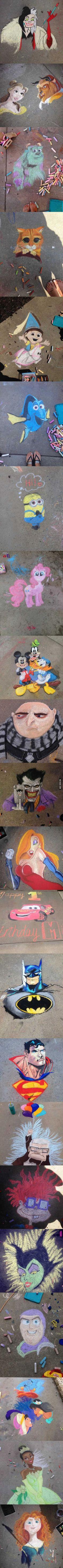 Amazing sidewalk chalk art
