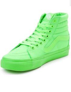 Lime green hightop vans used UNISEX men 6.5 women 8 High Top Vans eb70bf5f0