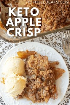 This Keto Apple Crisp is easy to make, has to perfect amount of fall spices, and is positively delicious. With my special ingredient, you can enjoy apple crisp and still keep it low carb! Only 5 net carbs per serving. This delightful dessert has just 6 ingredients and is gluten-free, sugar-free, and grain-free. This low carb apple crisp doesn't have a single apple, & you won't even know the difference. My secret is in boiling jicama until it is soft & tender. It works great as a keto apple…