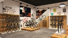 Hero Cycles - Store Identity on Behance Bicycle Cafe, Bicycle Store, Velo Shop, Ebike Shop, Boutique Velo, Moto Design, Art Hippie, Bike Room, Retail Store Design