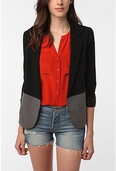 """colorblock boyfriend blazer  I really need to get more blazers /or/ """"Americans"""""""