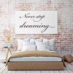 Tekst op canvas - Dreaming
