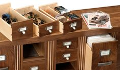 GORGEOUS comic book storage - combining two of my fav things: comics and a card catalog!