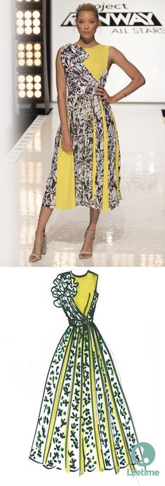 This yellow and black midi dress from Project Runway All Stars is AMAZING!