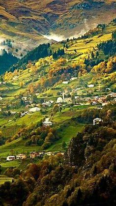 """Matsoúka, the """"club""""; Laz: მაჩხა Maçxa) is a town and district of Trabzon Province in the Black Sea region of Turkey. Apropiación Cultural, Places To Travel, Places To See, Nature Photography, Travel Photography, Visit Turkey, Turkey Travel, Turkey Vacation, Fantasy Landscape"""