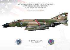 """UNITED STATES AIR FORCE366TH TACTICAL FIGHTER WING """"THE GUNFIGHTERS"""" 389TH TACTICAL FIGHTER SQUADRONDA NANG AB, VIETNAM. FEBRUARY, 1969 Military Jets, Military Aircraft, Air Fighter, Fighter Jets, Air Vietnam, Airplane Illustration, F4 Phantom, War Thunder, Fighter Aircraft"""