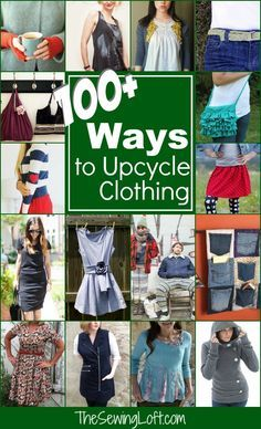 100 Ways to Upcycle your clothing