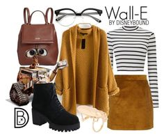 Wall-E by leslieakay on Polyvore featuring polyvore, fashion, style, Miss Selfridge, Sandro, Calvin Klein, Disney, clothing, disney, disneybound and disneycharacter