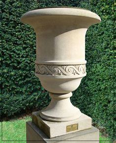 Richmond Vase Garden Urns, Garden Planters, Fiberglass Planters, Product Development, Flower Pots, Flowers, Retro Home Decor, Stone Carving, Pottery