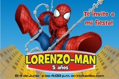 invitaciones infantiles de spiderman