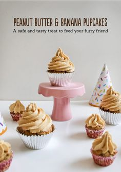 Peanut Butter and Banana Pupcakes - Cupcakes for your Dog! - Love Swah