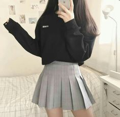30 √Cute Korean Outfits That You Must Have In Your Wardrobe 5 - censiblehome Kawaii Fashion, Cute Fashion, Girl Fashion, Fashion Outfits, Fashion Design, Fashion Ideas, Cute Korean Fashion, Korean Outfits Cute, Korean Clothes