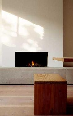 Home of Architect John Pawson, London UK :: fireplace