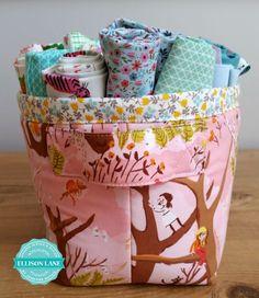 fabric basket free pattern from ellisonlane