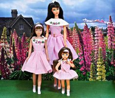 """Barbie,  Skipper and Tutti wearing """"Me and My Doll!"""""""