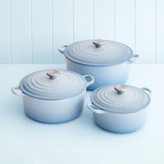 I am in love - Le Creuset 20cm casserole in coastal blue