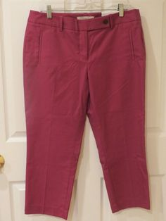 Ann Taylor Loft Capris Plum Color Size 12petite Marisa Style #AnnTaylor #CaprisCropped