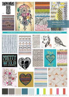 Modern Myth, Winter 2014, totem, indian print, tribal, feather