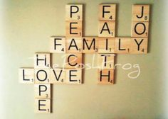 scrabble letters large individual scrabble tiles crossword wall d cor engraved solid wood in. Black Bedroom Furniture Sets. Home Design Ideas