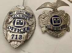 Security Officer, Walt Disney World (Sun Badge) Security Badge, Law Enforcement Badges, Private Security, Investigations, Ems, 1980s, Walt Disney, Crime, Police
