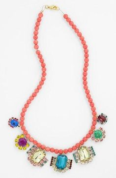 Jewels & hot pink beads. Yes please.