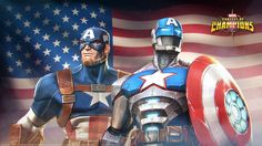 Happy of July! Happy 4 Of July, 4th Of July, Contest Of Champions, Marvel Cards, Marvel Heroes, Captain America, Spiderman, Avengers, Comics