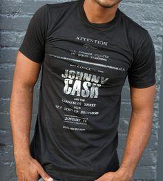 Johnny Cash Concert T-Shirt | Men's Clothing | Black & Denim | Scoutmob Shoppe | Product Detail