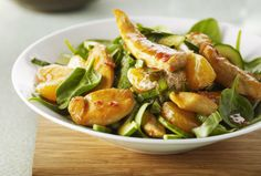 #SchoolYourChicken Recipes - Four-Season Warm Asian Salad (With Spinach) » Chicken.ca