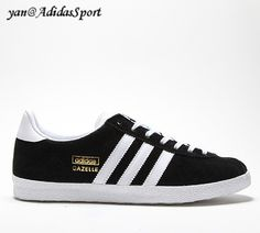 online retailer 7247d 71cf5 Adidas Originals Women s Gazelle and Sneakers in Black and White HOT SALE!  HOT PRICE! meriahanso · SHOES