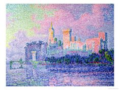 The Chateau des Papes, Avignon, 1900 Giclee Print by Paul Signac at AllPosters.com