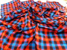 The Original African Masai Shuka Blanket Crafted Maasai Cloth Acrylic Fabrics For Make an Outfit Tanzania Masai Shuka Fabrics Gift NEW