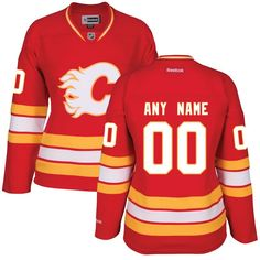 Calgary Flames Reebok Women s Custom Alternate Premier Jersey - Red 58ba426dc