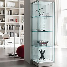 The Broadway Glass Bookcase & Display Unit is an extremely elegant glass storage and display furniture of supreme quality by Tonelli design. Glass Display Shelves, Glass Shelf Brackets, Floating Glass Shelves, Display Cabinets, Display Cases, Mounting Brackets, Ikea Glass Cabinet, Glass Shelves In Bathroom, Glass Cabinets