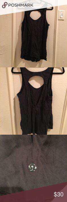 Lululemon peace of mind black tank This black tank is super cute and goes with so many different things, it has a teardrop shaped cutout in the back so you could show off a cute bra if you wanted! Material is tencel. I ❤️ offers! lululemon athletica Tops Tank Tops