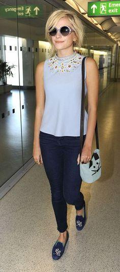Pixie Lott at Heathrow airport - cute!