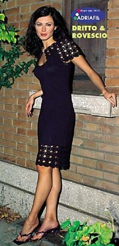 20e0dd31c956 Blue Dress with Stole in Adriafil Doppio Ritorto 8 3 5 - Downloadable PDF