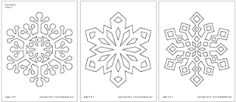 Image result for snowflakes templates