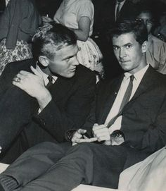 Tab Hunter and Anthony Perkins