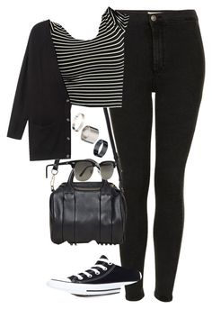 """""""Untitled #1827""""❤ liked on Polyvore featuring Topshop, Alexander Wang, American Apparel, Monki, Ray-Ban, Converse and Just Acces"""