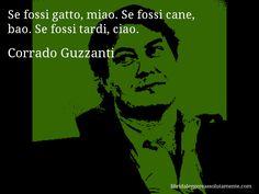 Cartolina con aforisma di Corrado Guzzanti.