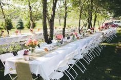 Burlap Table runners At Rustic Wedding