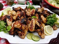 Lime-Marinated Chicken Wings With Avocado Dip