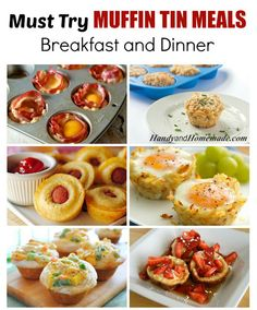 Muffin Tin Meals, Dinner And Breakfast Recipes