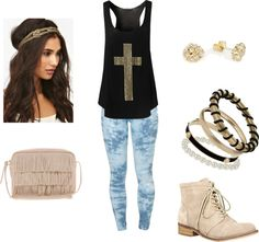 """Crosses & Studs"" by emma-lee97 on Polyvore"