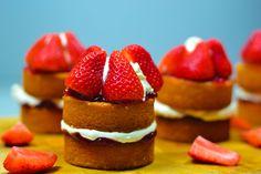 Delicious individual Victoria sandwich perfect for a cream tea!  Check the recipe at www.claytonscookbook.com