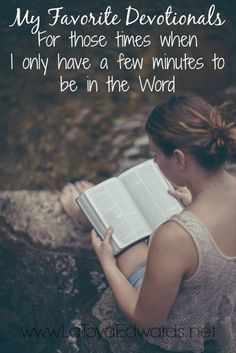 I'm purposing to spend time really digging deep into the WORD this year through bible study. But as a busy mom there are time when I only have a few minutes to spend with God. These are times when I like to grab one of my favorite devotions for women. I'm sharing a great list of devotion ideas including the one from (in)courage that have been using for the last 2 years! Yep it's that good :)