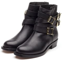Rupert Sanderson Biker Boots (€1.065) ❤ liked on Polyvore featuring shoes, boots, botas, black engineer boots, rupert sanderson, small heel boots, biker boots and black motorcycle boots